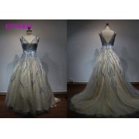 Quality Luxury Bead Work Prom Ball Gowns For Women Special Occasion Evening Embroidered for sale