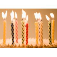 Buy Colored 100 Paraffin Wax Spiral Cake Candles For Party Birthday Wedding At