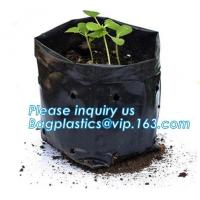 Quality Wholesale Poly Black Square Garden Plastic Baby Flower Plant Nursery Poly Bags for Hydroponics,1gal 2gal 3gal 5gal 7gal for sale