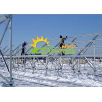 Quality Ground Mounted PV Solar Rack Mid Clamp Aluminum Rail for sale