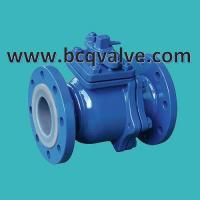Quality FLANGED END 2-PC CARBON STEEL PTFE(FEP,F46) LINED BALL VALVE for sale