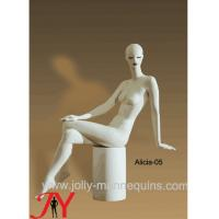 Quality Jolly mannequins-clothing display model sitting white color abstract head full body mannequin Alicia-5 for sale