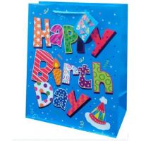 Quality Fancy birthday paper material packaging bags gift bags for sale
