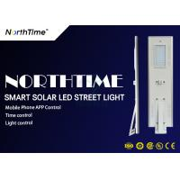 Quality Garden Solar Panel Street Lights 50W Phone App Control Through Bluetooth for sale