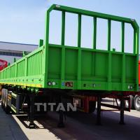 Buy cheap TITAN side wall semi trailer 3 axle cargo trailers 40ft container side loader from wholesalers