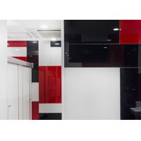 Quality 4mm Lacobel Painted Glass , Colored Mirror Glass For Office / Kitchen for sale