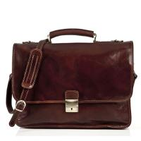 Quality Italian Oil Vintage Durable Mens Leather Briefcase Bag For Doctor Working for sale