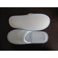 Quality blue disposable slipper  eva sole waffle fabric for sale