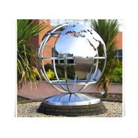 Quality Metal World Globe Map Stainless Steel Sculpture For Public Decoration for sale