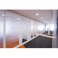 China Movable Partition Walls Flexible Frosted Glass Room Dividers For Office on sale