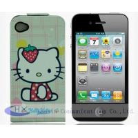 Quality Custom Cartoon Protective Mobile Apple iPhone Leather Cases for iPhone 4 for sale