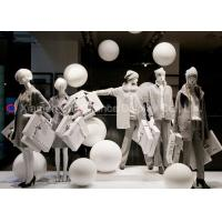 Quality Simple Style Window Display Decorations White Color Fiberglass Balls for sale