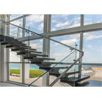 Quality Wall metal staircase single metal stair stringers straight staircase for sale