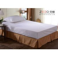 Polyester Fabric Elastic Bed Skirts Dust Ruffles For Home / Hotel