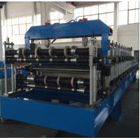 Buy Double Layer Sheet Metal Forming Equipment , Metal Roofing Roll Forming Machine Manual Decoiler at wholesale prices