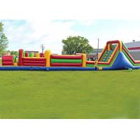 Quality Long Outdoor Assault Course / Inflatable Obstacle Course With Waterproof Material for sale