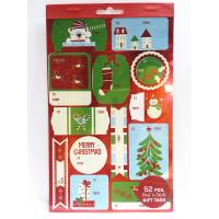 Quality Christmas Sticker Printing White Paper Board Sheet Holiday Decoration for sale