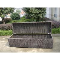 Quality Waterproof Grey Resin Wicker Storage Box For Hotel , 1200*600*650mm for sale