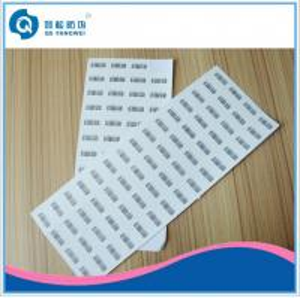 China Pantone Printed Self Adhesive Labels , Silk Screen Printing Destructive Vinyl Stickers on sale