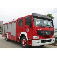 China Water Tank Emergency Fire Department Trucks 12CBM LHD 290HP With Anti Slip Handrails on sale