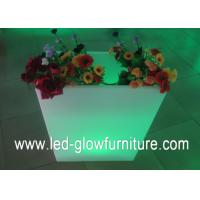 Quality Multi - purpose LED Flower Pots container / vase cube or bucket with remote control for sale