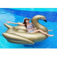 75'Golden Swan Inflatable Pool Floats Golden color animal  water Float From China Factory