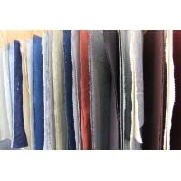 Quality Colored Dyed Linen and Organic Cotton Washed Fabric for Polo T Shirt Clothing for sale