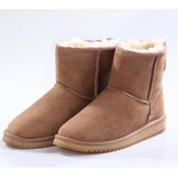 Quality Women winter boots, fashion snoow boots, ladies and girl, short boots real sheepskin double face chestnut color for sale