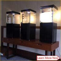 Quality Material wooden black tempered glass jewelry tower display case with high pole lights for sale