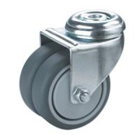 Quality hollow king pin twin wheels caster for sale