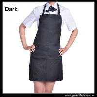 China Classic black promotional plan aprons in stock ready for customized logo advertisment need on sale