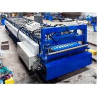 China Steel Corrugated Roof Panel Roll Forming Machine 16 / 18 Steps CE Approval on sale