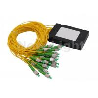 FTTH FC APC Fiber Optic Splitter Single Mode 1x32 PLC Splitter With FC APC Connector