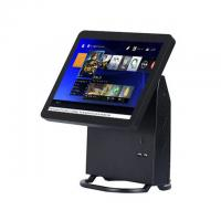 Quality Single Touch Screen Restaurant Pos System Black Color With Energy Saving CPU for sale
