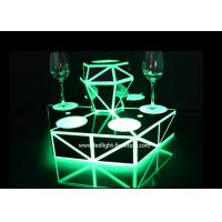 Quality Battery Powered LED Light Up Bar Shelf Liquor Bottle Display With Acrylic Material for sale