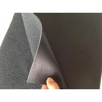 Quality Nappa Design Black Bonded Leather Fabric 1.0mm - 1.2mm Thickness for sale