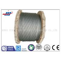 Quality Strong Galvanized Steel Wire Rope , Aircraft Grade Wire Rope Anti Rotation For Heavy Machinery for sale