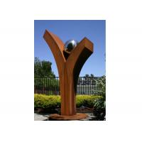 Quality Outdoor Abstract Corten Steel Sculpture Forging And Casting Technique for sale