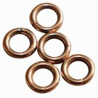 Quality Phos-copper brazing rings, measures 1.3x4.0mm for sale