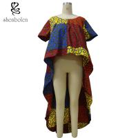 4370f8c91191eb Quality OEM Service Mixed Color Ankara African Print Tops Short Sleeve High  Low Top for sale
