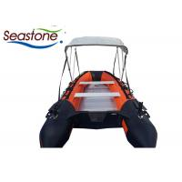 Quality 12 Foot Inflatable Sport Boats With Small Motor Rub Strake Protection for sale