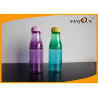 Quality Small Safe Plastic Drinking Bottles / Custom Multi Color Recycle Plastic Bottles for Water for sale