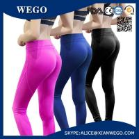 Quality Pink Womens Sports Yoga Workout Running Fitness Tights Elasticity Sports Pants for sale