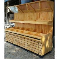 Buy Fruit And Vegetable Wooden Display Rack With Mirror at wholesale prices