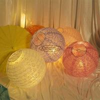 Buy Carved Round Hanging Paper Lanterns Indoor For Party Decoration at wholesale prices