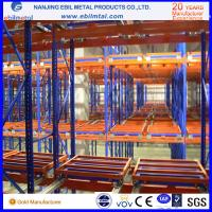 Buy New Style Ebilmetal Metallic Push Back Pallet Rack for Warehouse Storage at wholesale prices