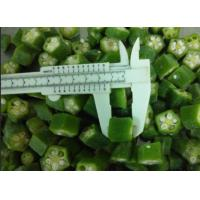 Quality Green IQF Individually Quick Freezing Okra Cut FDA / ISO Certificated for sale
