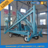 Quality Hydraulic Mobile Articulated Trailer Mounted Boom Lift with Battery / Diesel Power Source for sale
