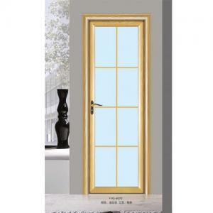 Silver Aluminium Glass Doors / Office Tempered Interior Glass Door