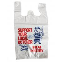 China Printed Plastic  Shopping Bags With Handles , Recycled Biodegradable Shopping Bags on sale